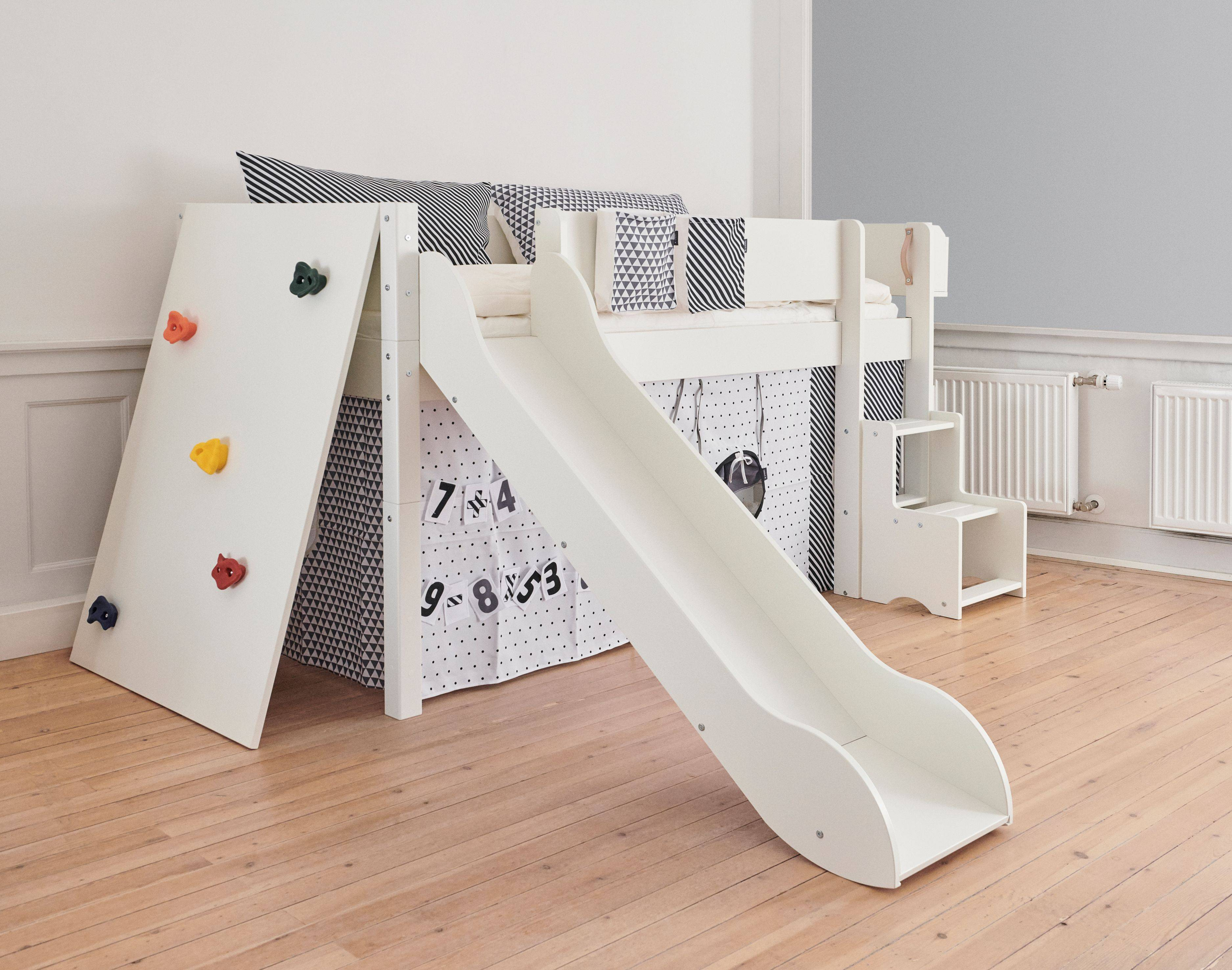 Manis-h bed with slide