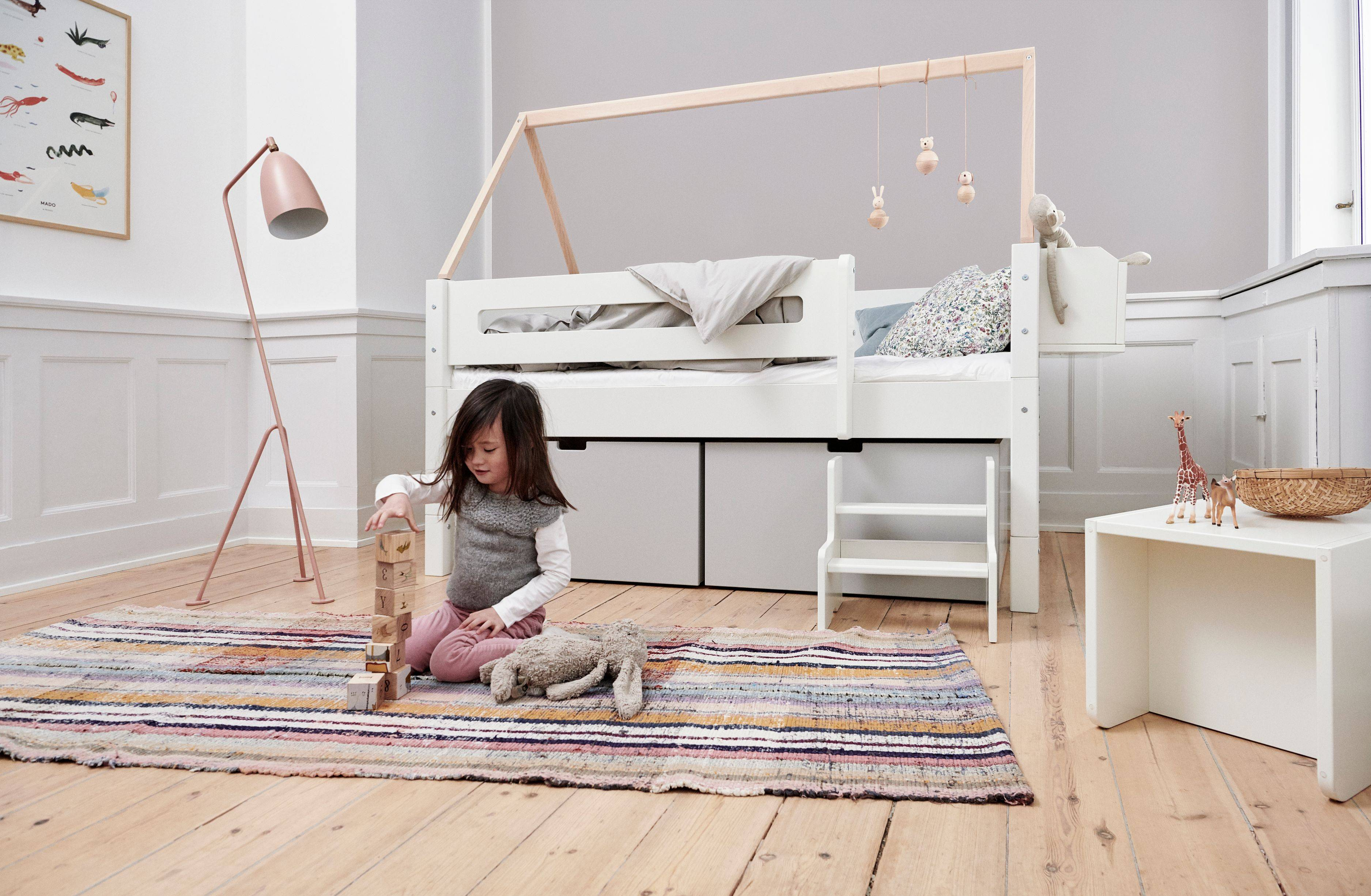 Manis-h NANNA Children's bed with high drawers